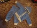 Костюмчик для малыша спицами. Часть 1. suit for baby knitting