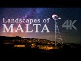 Пейзажи острова Мальта - Landscapes of Malta  4K