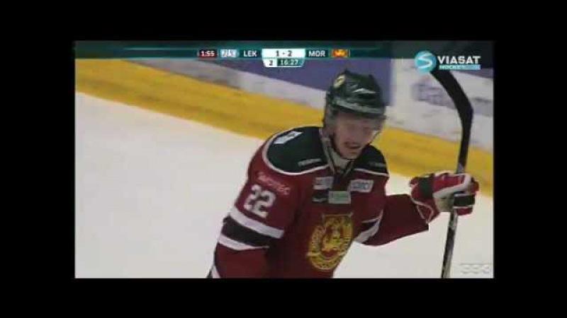 Henrik Eriksson gör mål - och kramar Alen Bibic