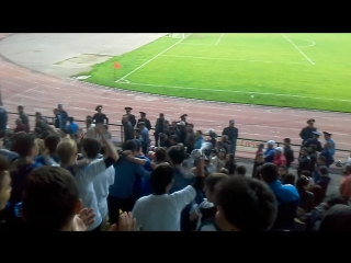 дискатека на стадионе после победы Тараза над Тоболом