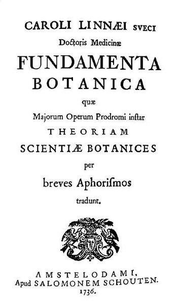 учёный, предложивший бинарную номенклатуру в систематике