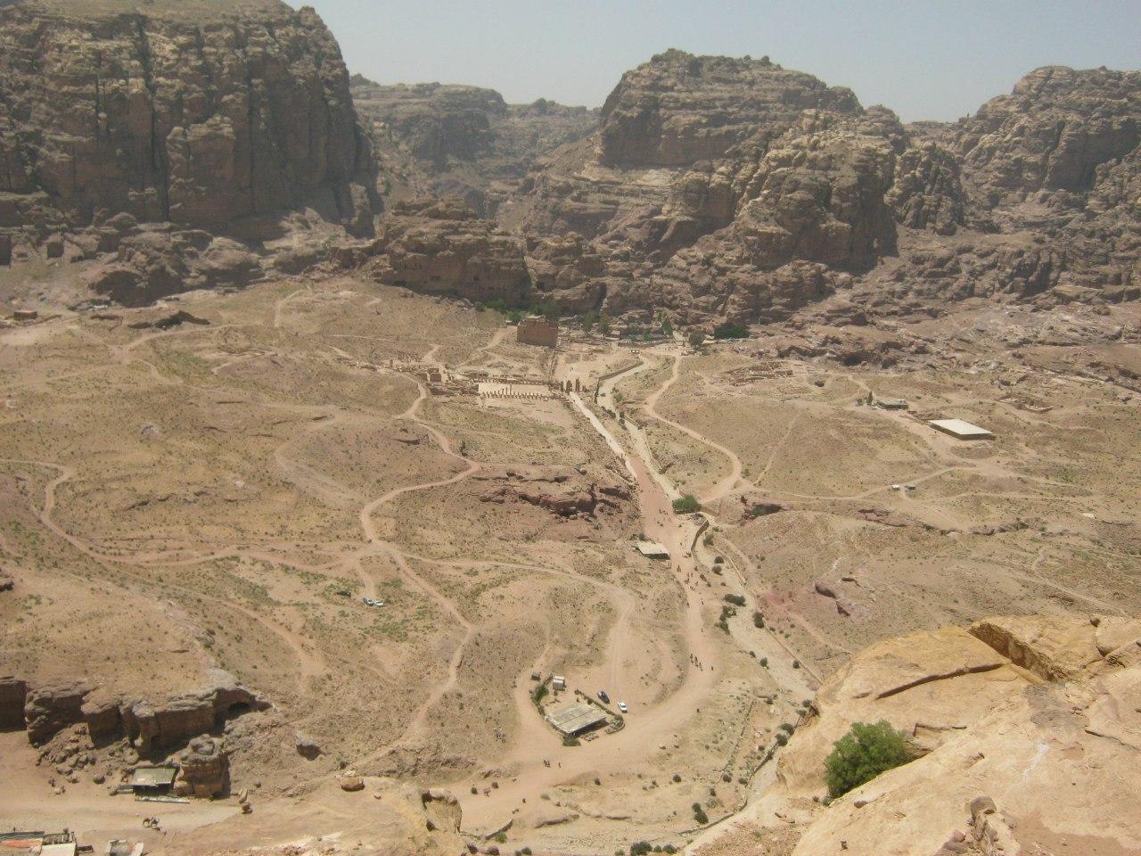 Вид на центральную часть древнего города Петра
