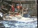 Сплав по реке Уукса на деревянных плотах в мае 1997 года.