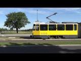 Tatra KT4Dm der BVG in Berlin Adlershof S-Bahnhof