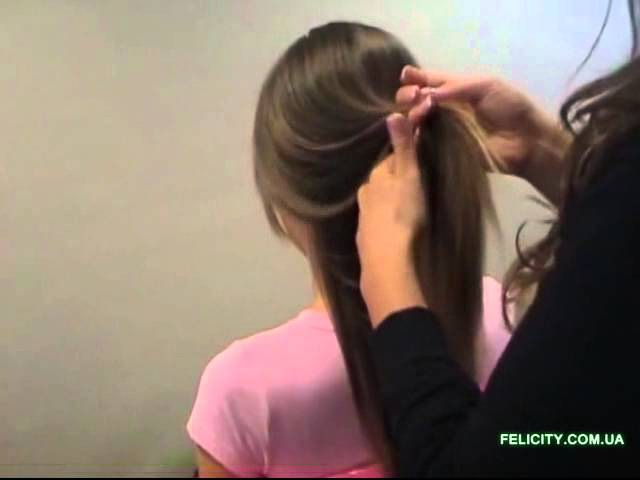 Как крепить волосы на клипсах, заколках, трессах.