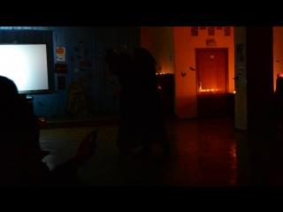 Танец верховной ведьмы Ундины и  хозяина бала Ворона  на празднике Halloween в МАУ ДО ДДТ (ДОО Юный Таганрожец)