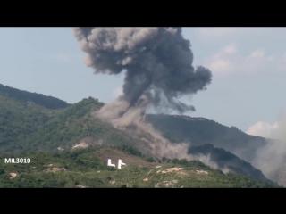 Боевые стрельбы на полигоне в Южной Корее / Танки, авиация, артиллерия