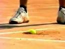 Видео Подача Роддика Мяч застрял в корте Рекорд 234км