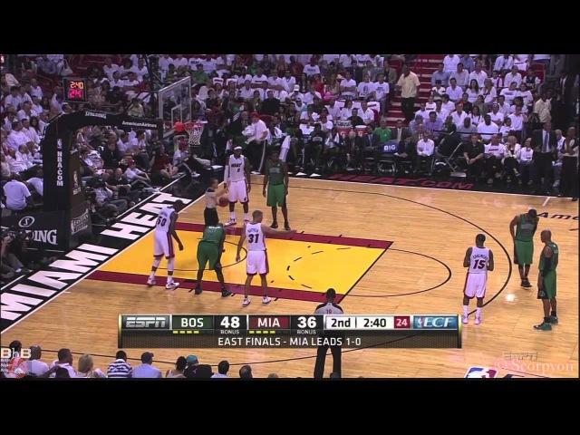 NBA Playoffs 2012 - Rajon Rondo 44 points, 8 rebounds 10 assists @Miami in Game 2
