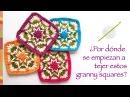 Granny square invertido tejido a crochet Incluye diagramas