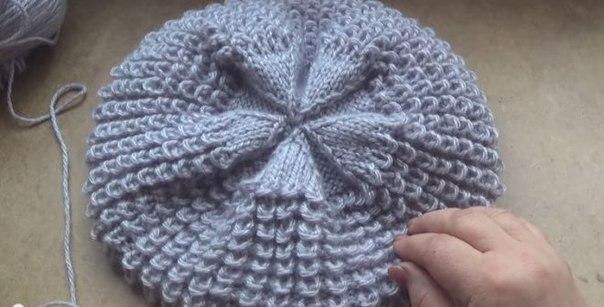 вязание беретов спицами для начинающих видео Ngmust