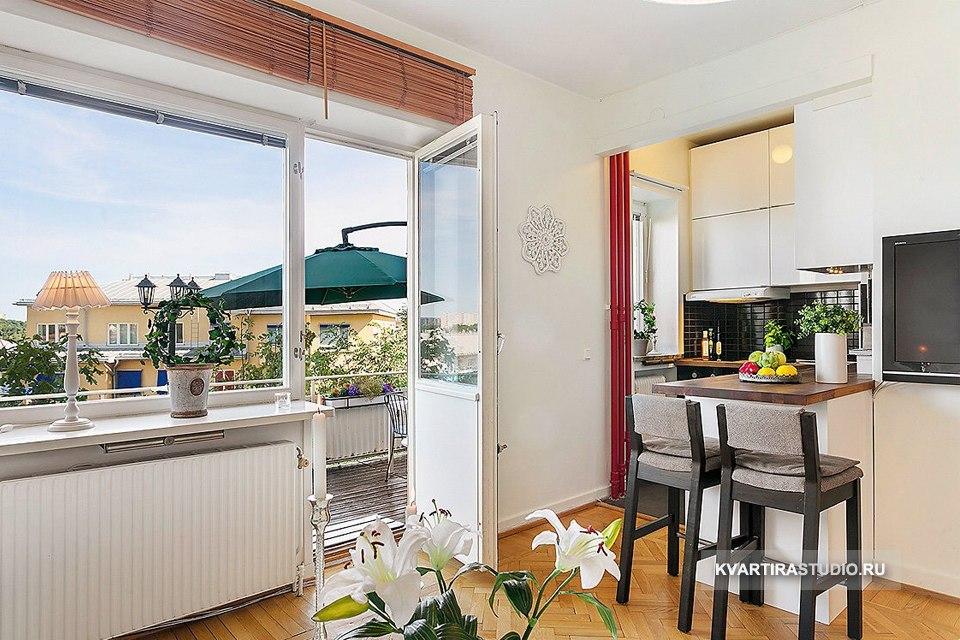 Квартира-студия 24 м с большой террасой - http://kvartirastudio.