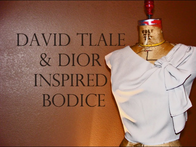 David Tlale and Dior Inspired Bodice Time Lapse Tutorial 2