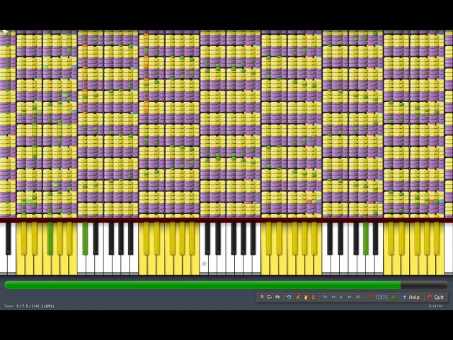 [Black MIDI] Synthesia - What does the Fox Say? 1.1 Million Notes - The Fox - Ylvis ~ Gingeas