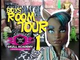 Monster High Skull Academy Boys Dorm Room 1 Tour #monsterhigh
