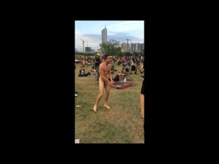 Naked Guy Streaker Reggae Fest 2014 ATX FULL VERSION
