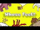 Whose Feet Learn Animals Song for Kids