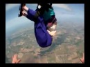 Lady Slips Out of Parachute When Skydiving