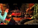 музыкальная импровизация с поющими чашами у камина