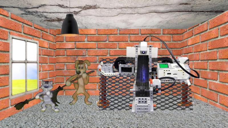 Робот Конвейер, кот Матроскин, пес Шарик
