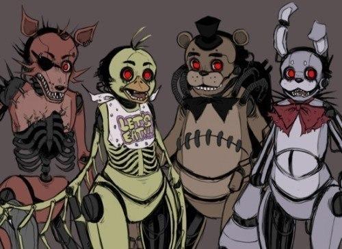 все аниматроники 5 ночей с фредди картинки