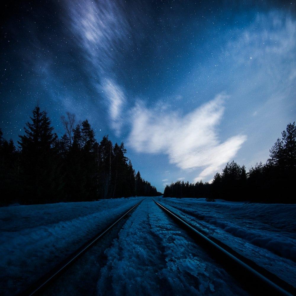 ночь зима фото