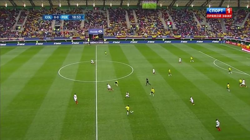 Copa America 2015 - Game 17 - Group C - Colombia vs Peru 1st half - 720p 50fps 1st half