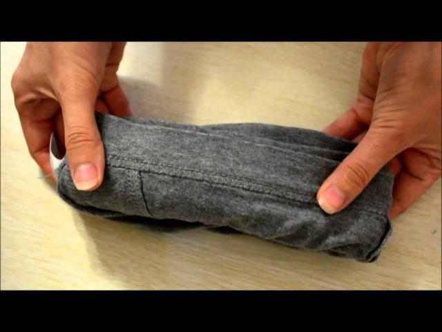 Как хранить носки, трусы, полотенца и ткани компактно!