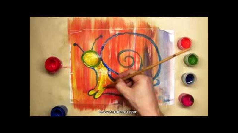 Уроки рисования детям. Рисуем с детьми. Улитка.