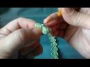 Irish lace Уроки вяз крючком ирландского кружева 2й Урок Детское платишко Урок Тесьма ЛИСТОЧКИ