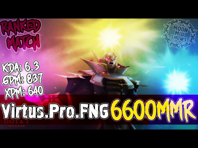 Virtus.Pro.FNG Plays INVOKER - Dota 2 - Ranked Match Gameplay