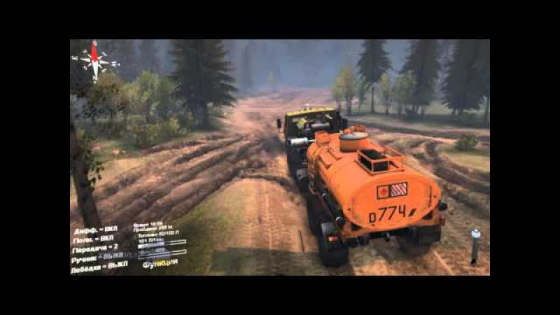 Военная техника и грузовые автомобили КРАЗ 6316 обзор в игре SpinTires 2015
