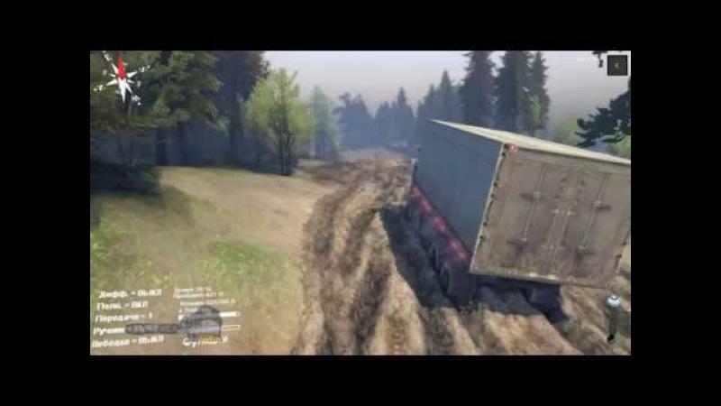 Камаз 6350 грузовики обзор и тест драйв военной техники на бездорожье и через реку в игре SpinTires