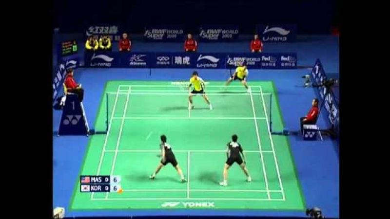 [Highlights] Badminton KOO Kien Keat Tan Boon Heong vs Lee Yong Dae CHUNG Jae Sung 2009 China [1/3]