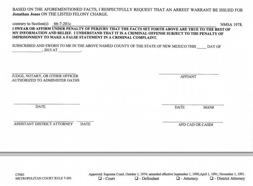 Ордер на арест Джона Джонса