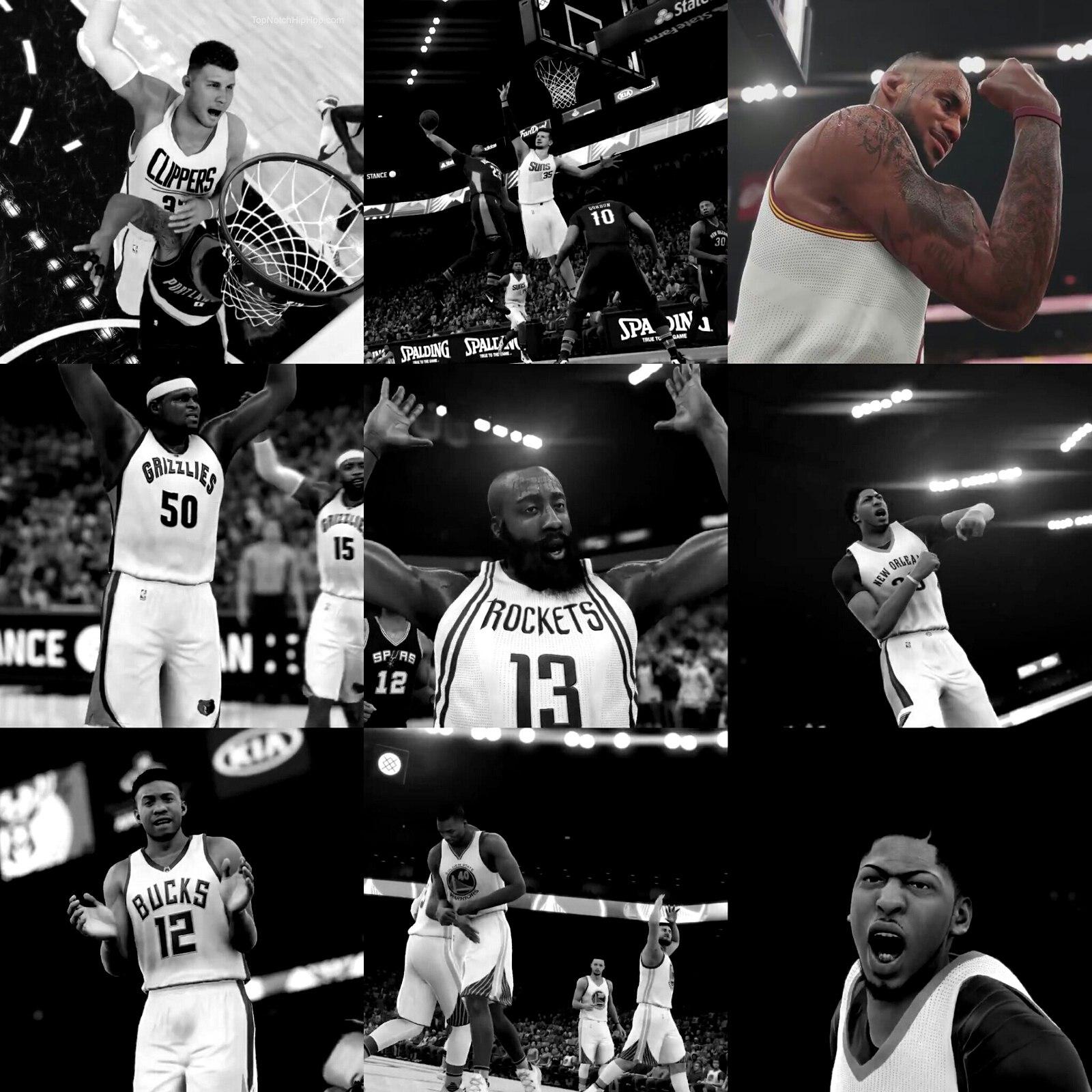Довольный Леброн в игре НБА2К16 в 2015 году