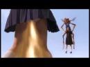 Девушка с галстуком пионера и голой сиськой взлетела и наваляла монстрам люлей, новый прикол 2013.