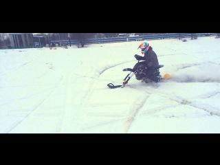 Питбайк зима гусеница pitbike snow