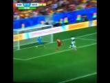 Сэйв Дауда после удара головой Криштиану Роналду - Португалия - Гана. Чемпионат мира 2014 (26.06.14)