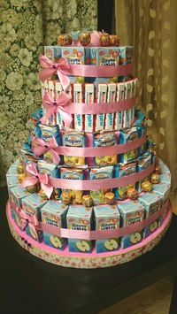 Торт из сладостей в детский сад фото