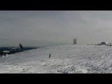Snowkite Training am Feldberg - Frontflip Chris Volk Kiteschule Skywalker