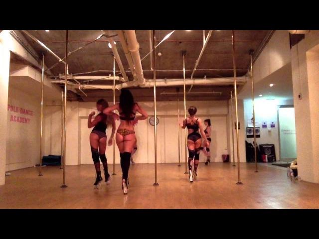 Work Work Floorwork Routine by Shimmy with Maddie Sparkle, Yungie, Ky Bec