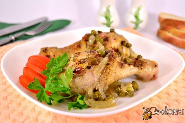 Куриные ножки запеченные на луковой подушке с горошком #ужин #кулинария #рецепты #еда #курица #вкусно Предлагаю вам попробовать куриные ножки запеченные на луковой подушке с горошком. Ножки получаются очень нежными с вкусным гарниром из лука и горошка. Также это блюдо можно дополнить картофельным пюре или рисом, например.