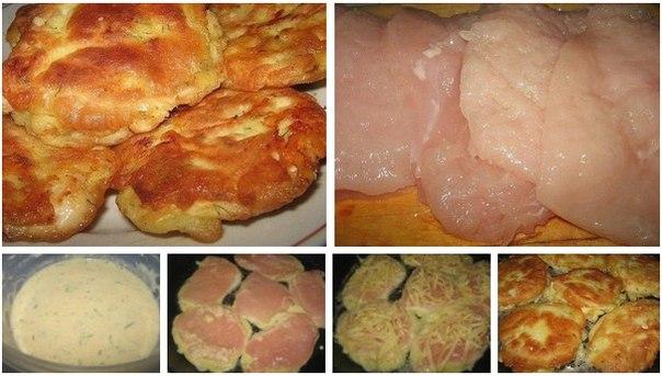 куриные грудки в кляре с сыром на сковороде