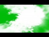 Flying into Clouds - Free Animation Green Screen