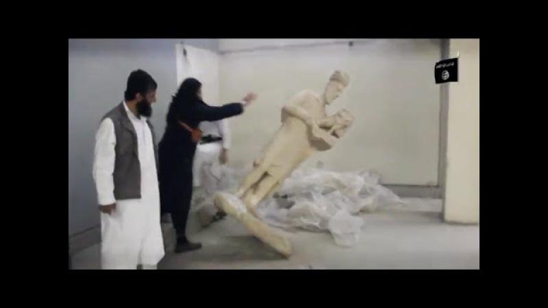 Imbecis do Estado Islâmico destroem antiguidades no Iraque
