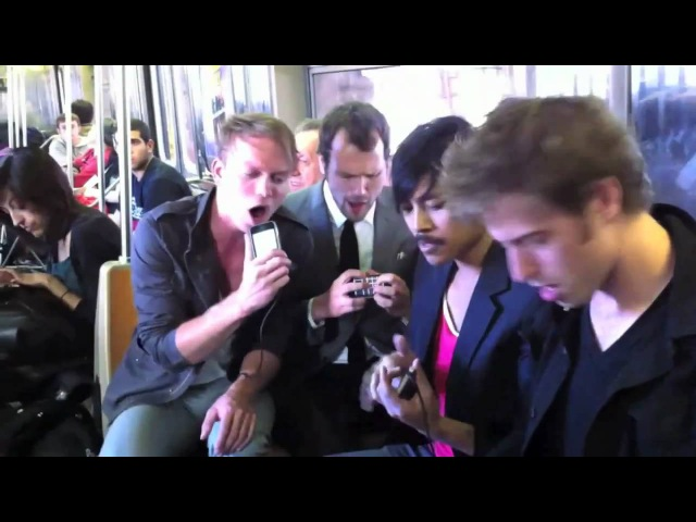 Take Me Out by Atomic Tom LIVE on NYC subway