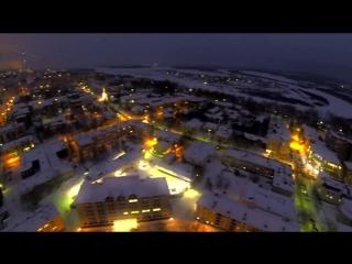 Вечерний Сыктывкар в новогодней ауре, январь 2014