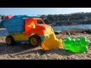 Машинки Капуки Кануки на пляже. Игрушечный грузовик. Сюрпризы. Игрушки для песка