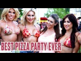 Wiz Khalifa, Tyga, 2Chainz and Models in Pizza Bikinis At LAs Largest Pizza Party